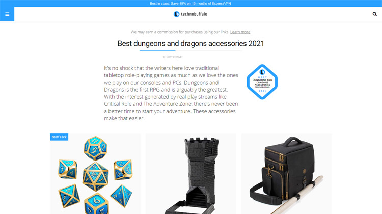 Technobuffalo - Best dungeons and dragons accessories 2021