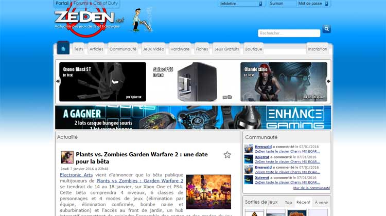 Zeden.net - Enter to Win contest Version 2
