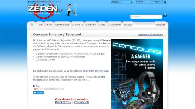 Zeden.net - Enter to Win Contest version 1