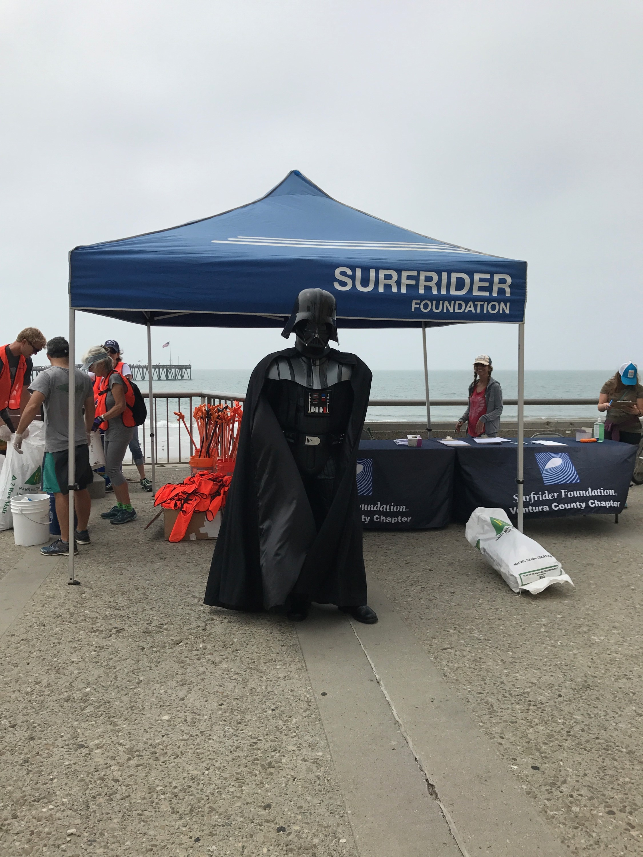 Darth Vader at the beach