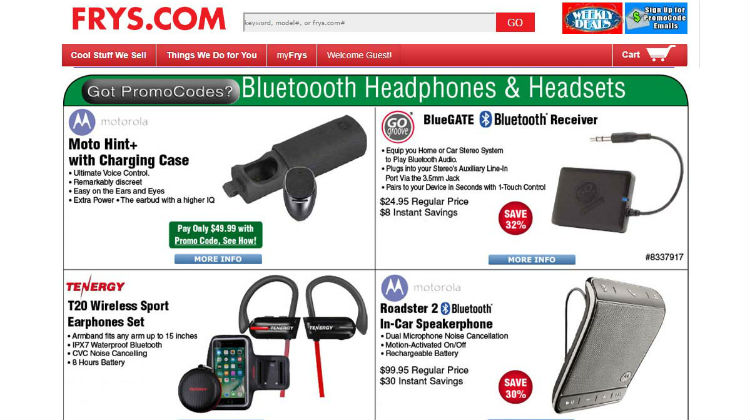 GOGROOVE BLUEGATE BLUETOOTH RECEIVER FEATURED ON FRYS.COM