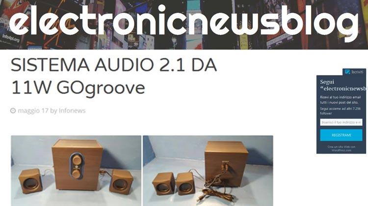 electronicnewsblog - SISTEMA AUDIO 2.1 DA 11W GOgroove SonaVERSE LBR