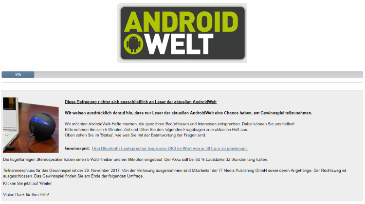 ANDROID WELT - GOGROOVE BLUESYNC OR3