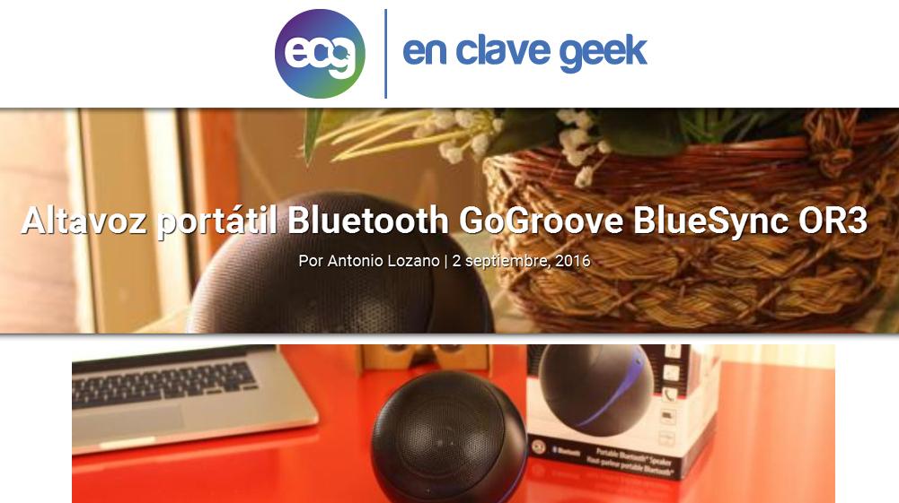 En clave geek - Altavoz portátil Bluetooth GoGroove BlueSYNC OR3