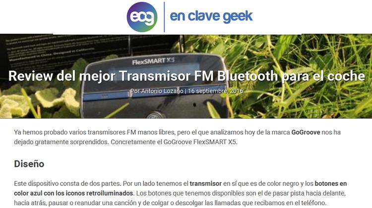 en clave geek - Antonia Lozano - GOgroove FlexSMART X5