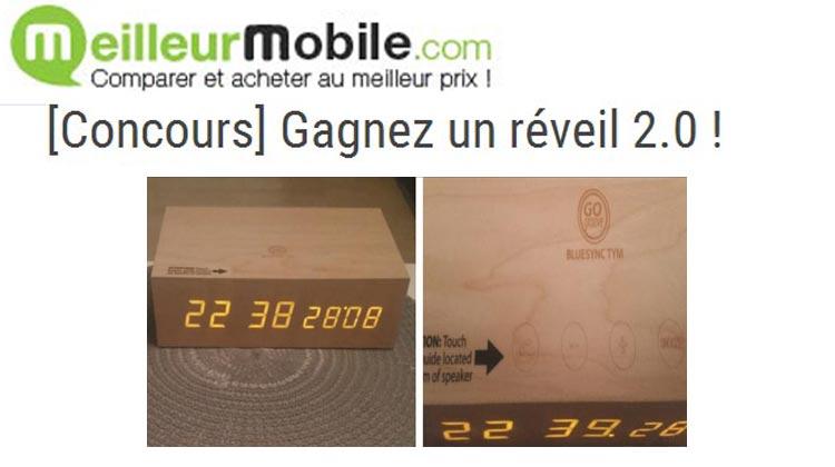 MeilleurMobile.com - Gagnez un réveil 2.0 !