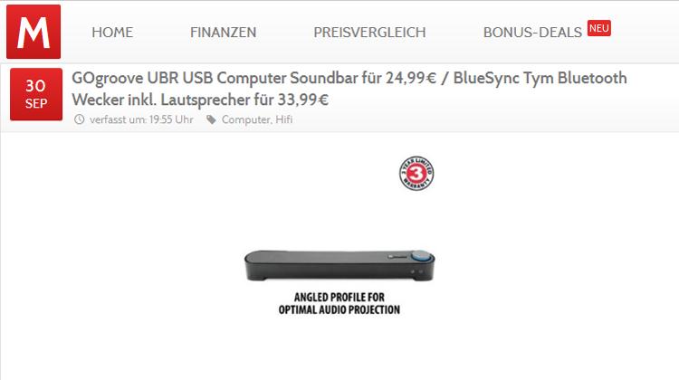 Monsterdealz - GOgroove UBR USB Computer Soundbar