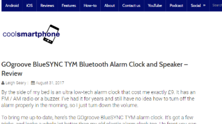 Coolsmartphone - GOgroove BlueSYNC TYM