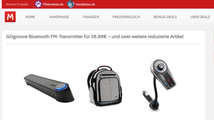 Monsterdealz - GOgroove Bluetooth FM-Transmitter