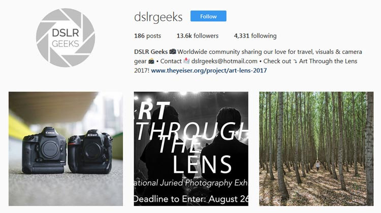 DSLRGEEKS Instragram promotion for USA GEAR FlexARMOR DSLR sleeve