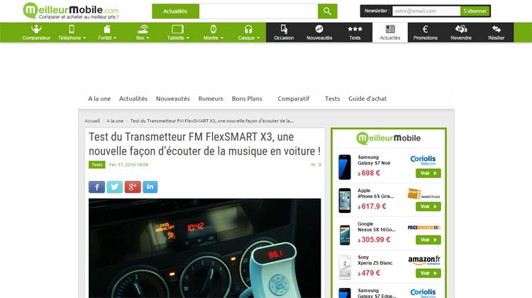Meilleur Mobile - Test du Transmetteur FM FlexSMART X3