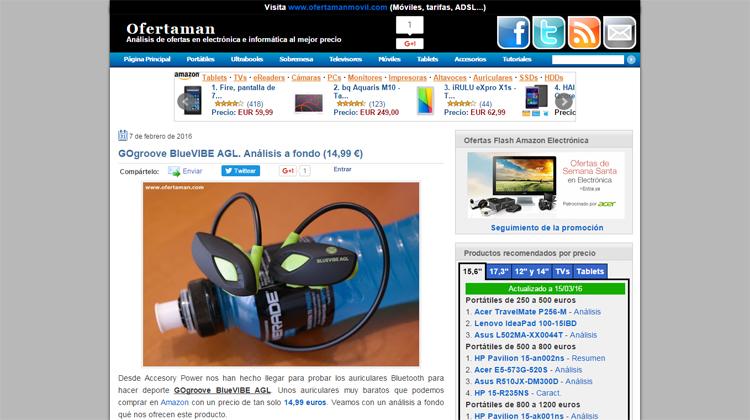 Ofertaman.com análisis a GOgroove BlueVIBE AGL