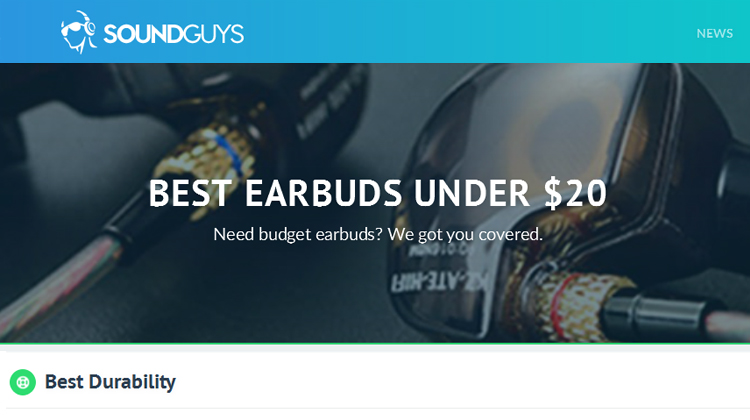 SoundGuys give nod to AudiOHM RNF for most durable under $20