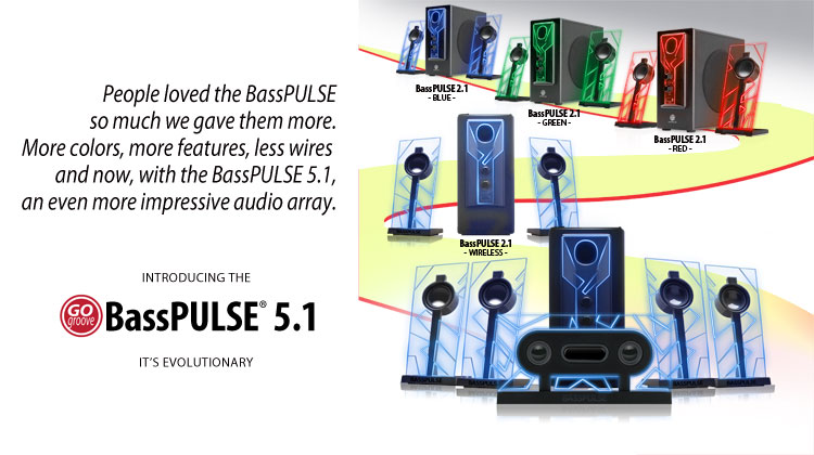 GOgroove® introduces New BassPULSE 5.1 Channel Surround Sound Speakers