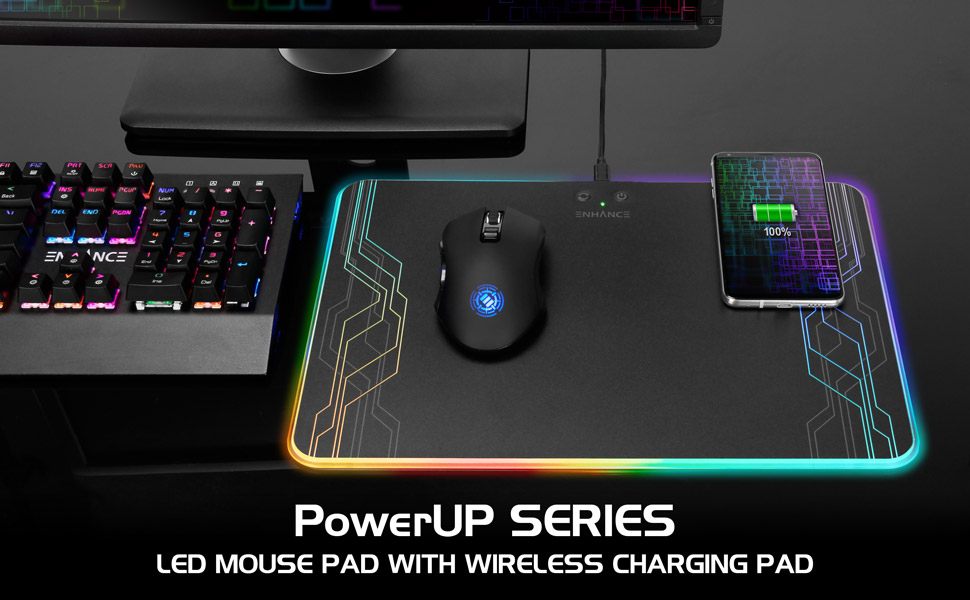 Accessory Power Debuts the ENHANCE® PowerUP™ Wireless Charging LED Mouse Pad at CES 2019