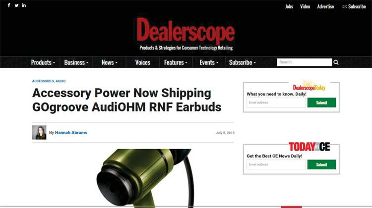 Dealerscope GOgroove AudioHM RND Announcement
