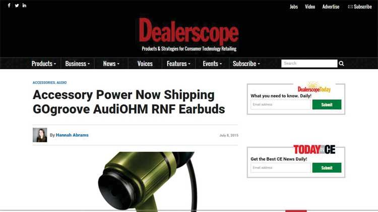 Dealerscope GOgroove AudioHM RND Announcement