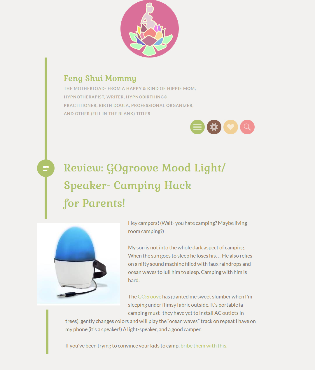 GOgroove Mood Light/ Speaker- Camping Hack for Parents!