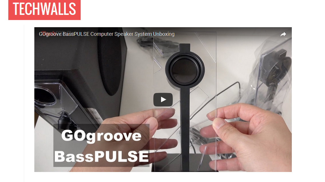Techwalls - GOgroove BassPULSE Computer Speaker System with LED Lighting Review