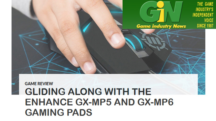 Game Industry News talks about ENHANCE GX-MP5 and GX-MP6 Gaming Pads