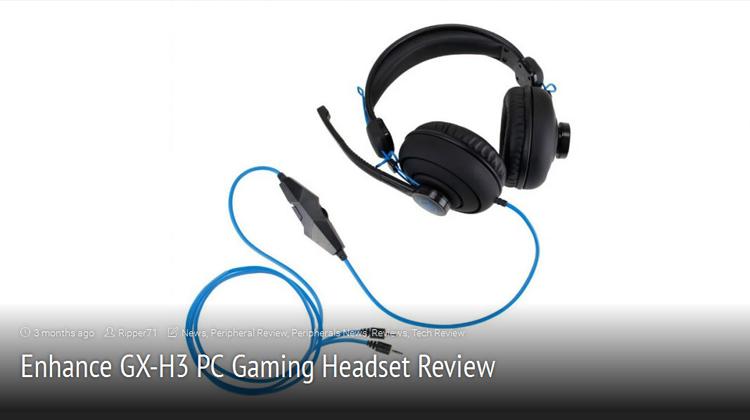 Gaming Shogun reviews the ENHANCE GX-H3 headset