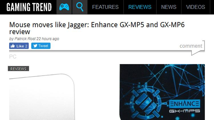Gaming Trend reviews Enhance GX-MP5 and GX-MP6