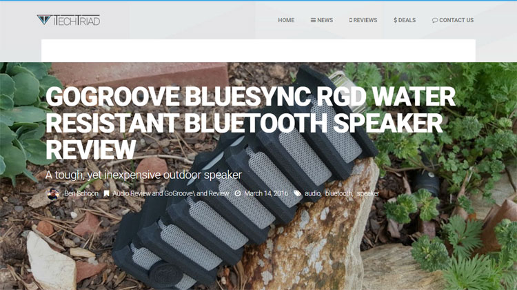 iTechTriad review of the GOgroove BlueSYNC RGD
