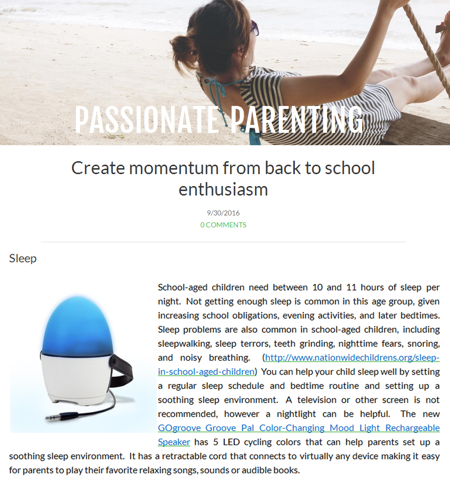parenting-examinercom-mention-of-gogroove-moodlight-for-back-to-school-2016