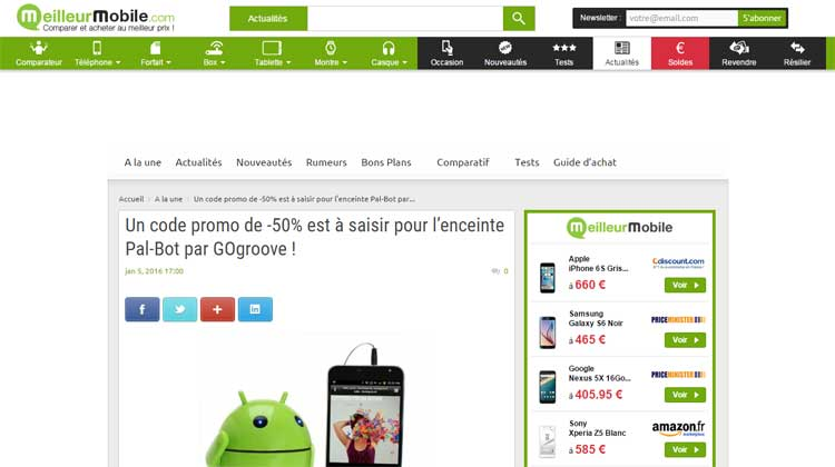 Meilleur Mobile - Promo for GOgroove Pal Bot