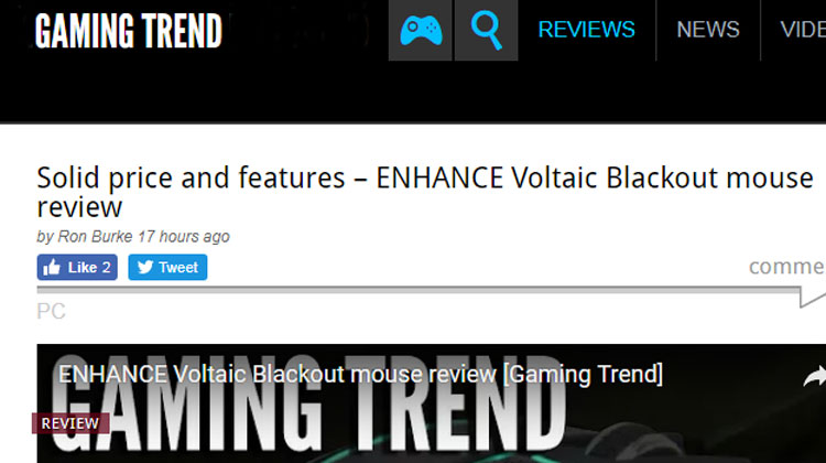 ENHANCE Voltaic Blackout mouse review [Gaming Trend]