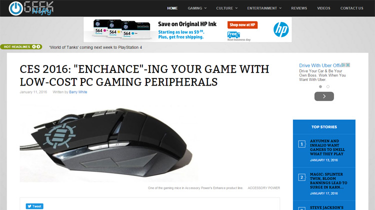Geek Nifty - ENHANCE M3 and Interview with Dan at CES