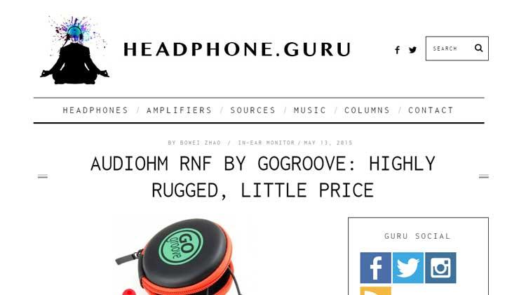 HEADPHONE.GURU GOgroove AudioHM RNF Review