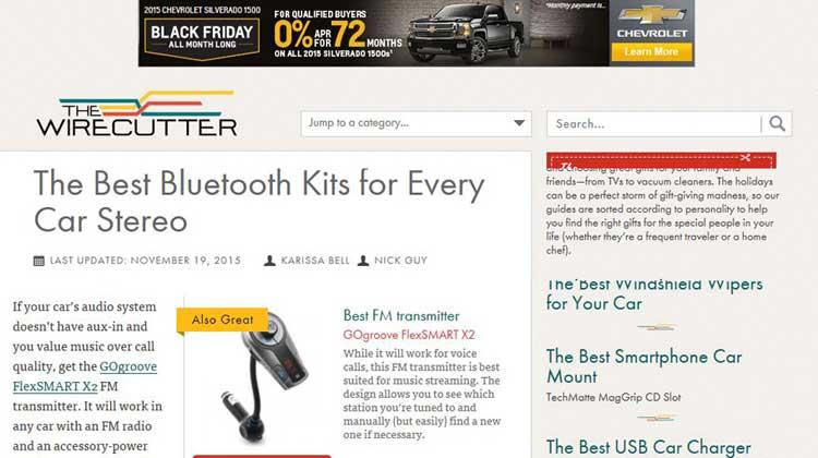 The WireCutter GOgroove FlexSMART X2 FM Transmitter Review