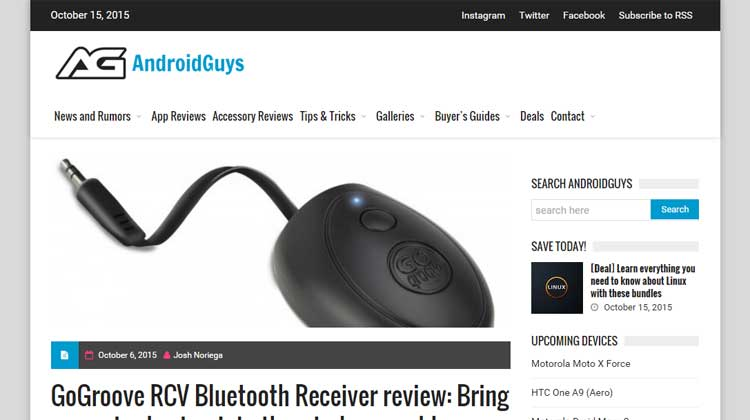 AndroidGuys GOgroove RCV Bluetooth Review