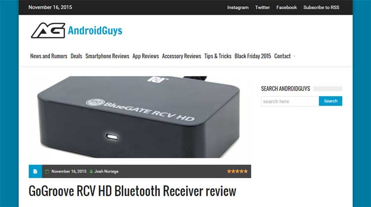 AndroidGuys GOgroove RCV HD Review