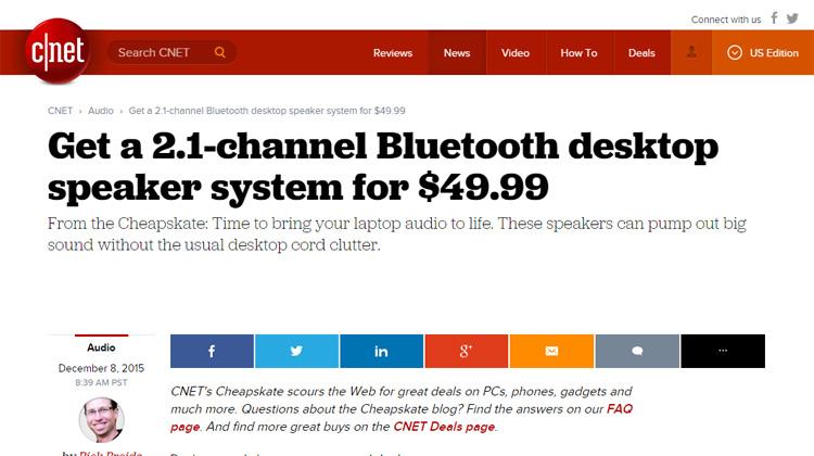 c|net GOgroove Bluetooth BassPULSE Review