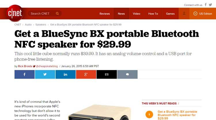 C|Net GOGroove BlueSYNC BX Review