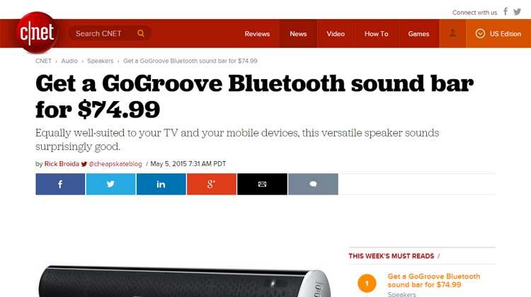 C|Net GOGroove BlueSYNC SBR Review