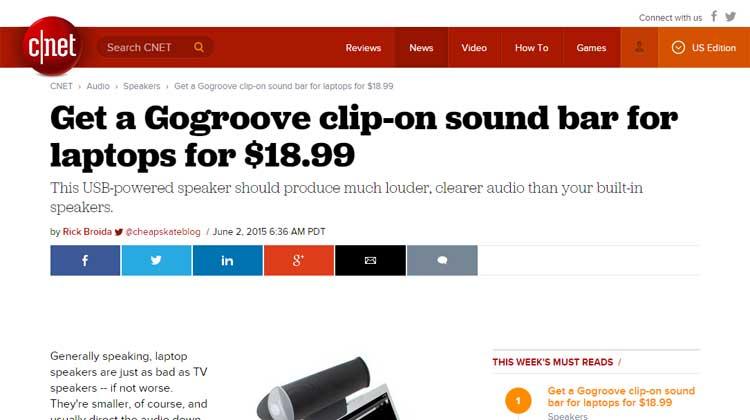c|Net GOgroove SonaVERSE USB Mention
