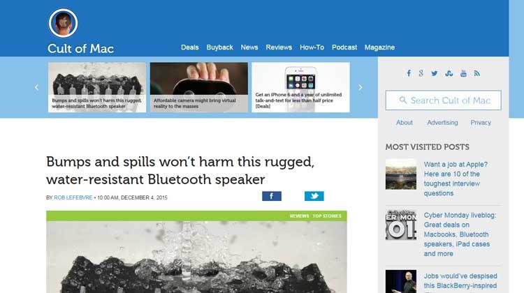 Cult of Mac GOgroove BlueSync RGD Bluetooth Speaker Review