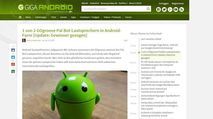 Giga.de GOgroove Pal Bot German Review
