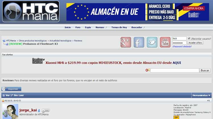 HTCMANIA GOgroove FlexSMART X3 Spanish Review