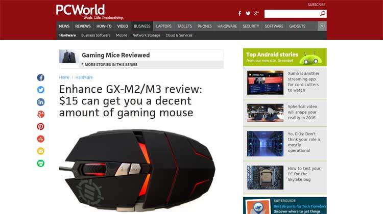 PCWorld - ENHANCE GX-M2 and GX-M3 review