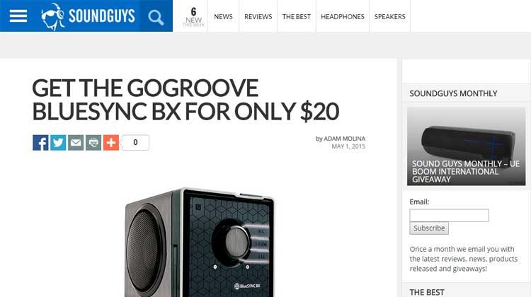 SOUNDGUYS GOgroove BlueSYNC BX Review