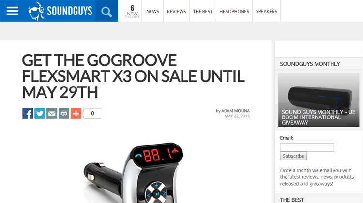 SOUNDGUYS GOgroove FlexSMART X3 Mini Review