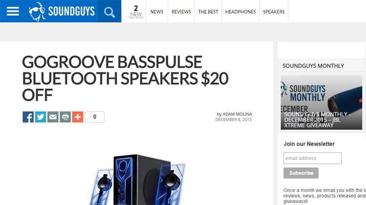 SOUNDGUYS GOgroove BassPulse Bluetooth Speakers Review