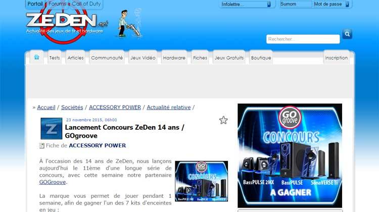 Zeden.net GOgroove Contest Giveaway
