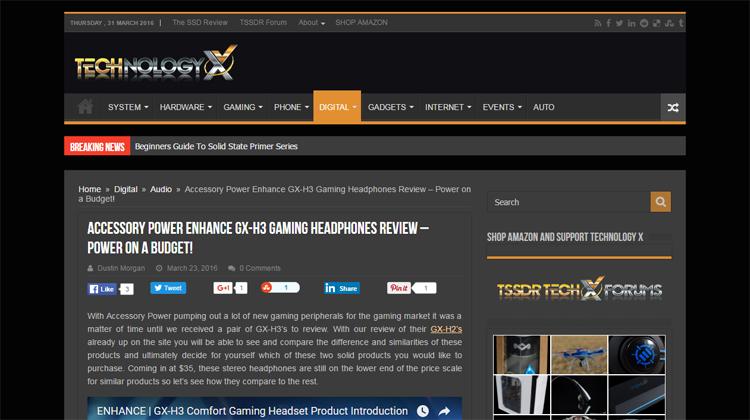 Technology X reviews the ENHANCE GX-H3 gaming headset