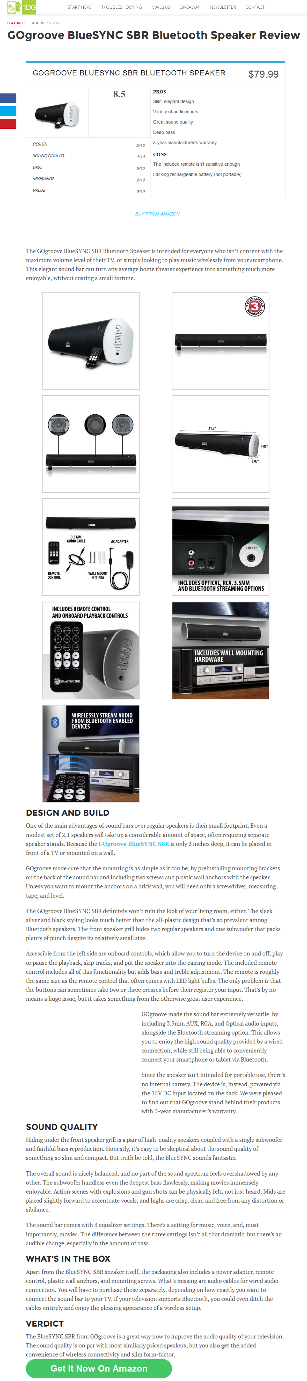 Ogroove BlueSYNC SBR Bluetooth Speaker