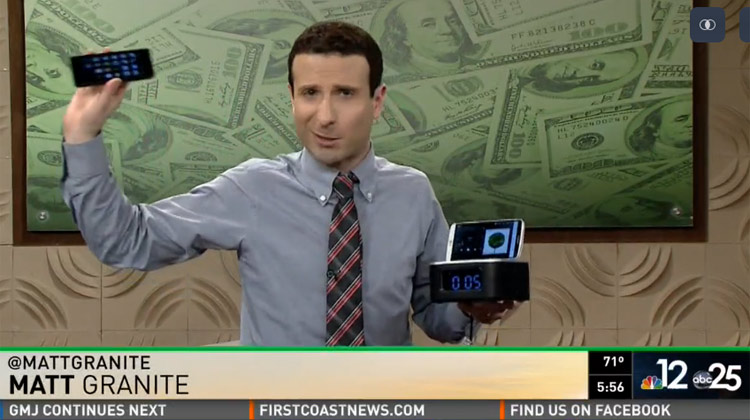 Matt Granite on FCN shows off the GOgroove RST clock
